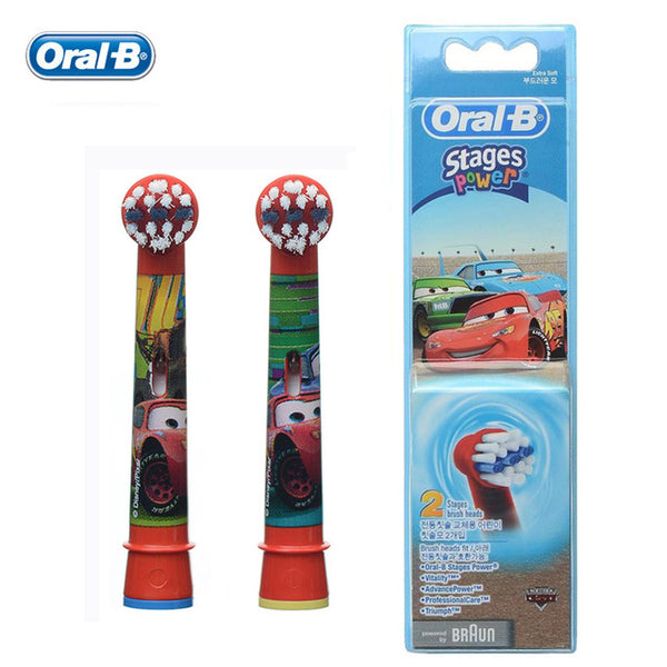 Oral B Children Brush Heads for Boys Girls Replaceable for Electric Teethbrush 2 heads/pack - Dentists-world