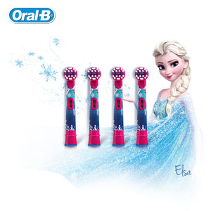 Oral B Children Electric Toothbrush Heads Frozen Tooth Brush Heads Round Brush Heads 4 - Dentists-world