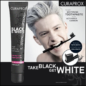 Black Is White CHARCOAL WHITENING toothpaste 90ml crest toothpaste activated carbon oral health - Dentists-world