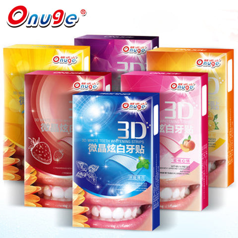 14PCS 3D White Teeth Whitening Gel Strips Mild Formula White Tooth Paste - Dentists-world