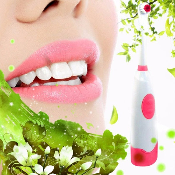 Rotating Anti Slip Waterproof Electric Toothbrush Soft With 2 Brush Heads - Dentists-world