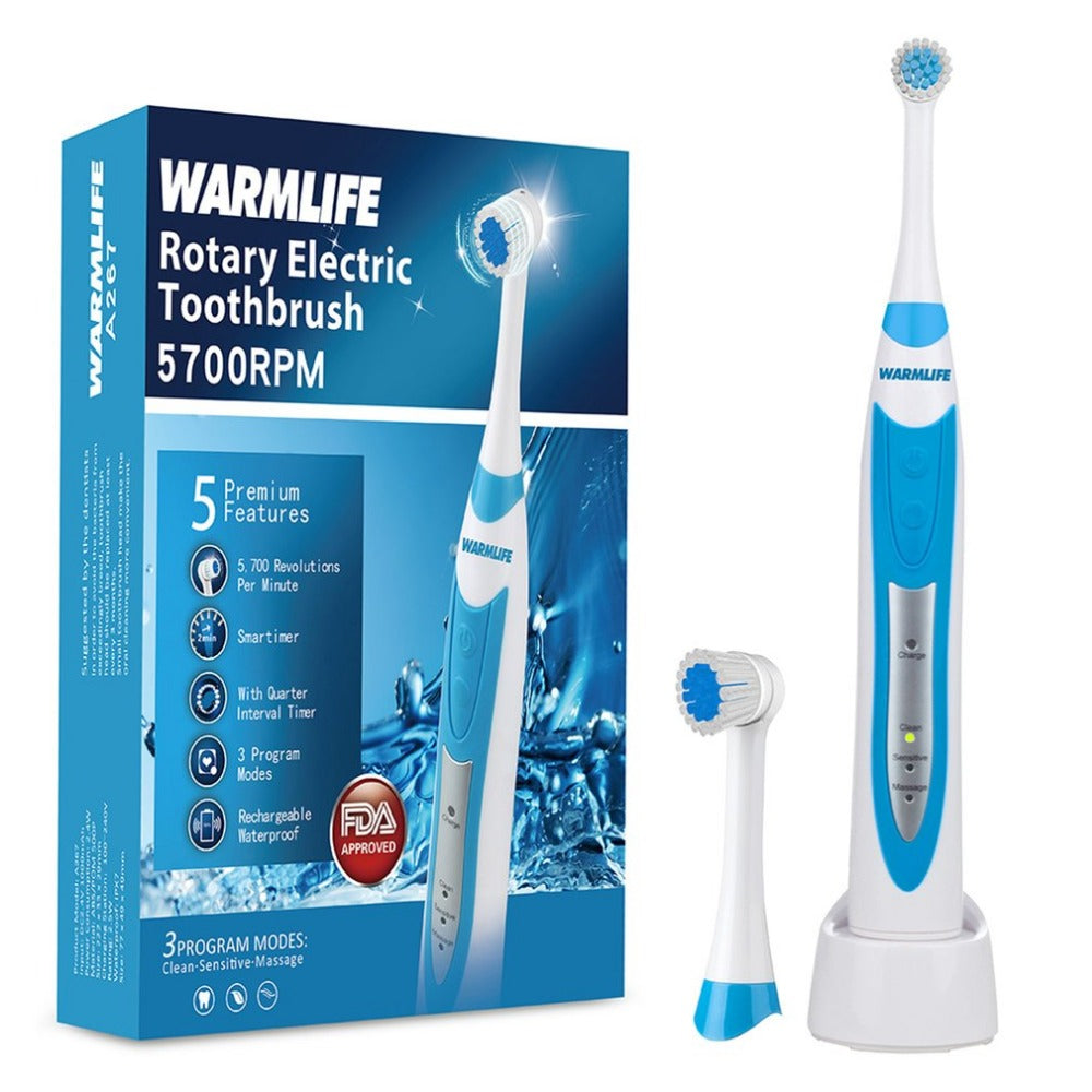 Ultrasonic Rotary Electric Toothbrush USB Rechargeable - Dentists-world
