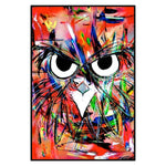 Angry Owl by David Strickland Art