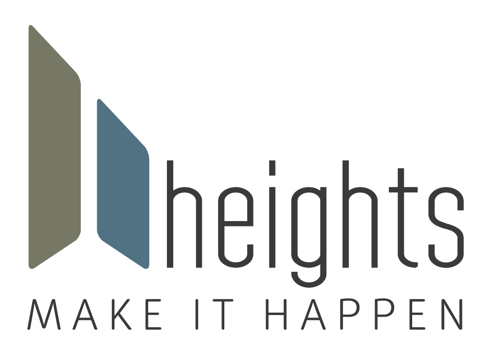 Heights Logo with tagline, Make It Happen