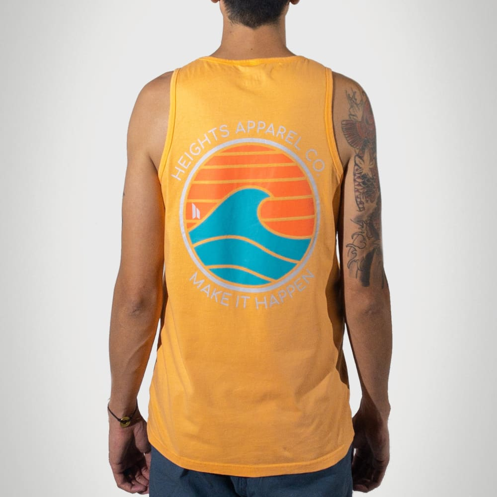 Coral Wave Tall Tank Top - heights-apparel-co