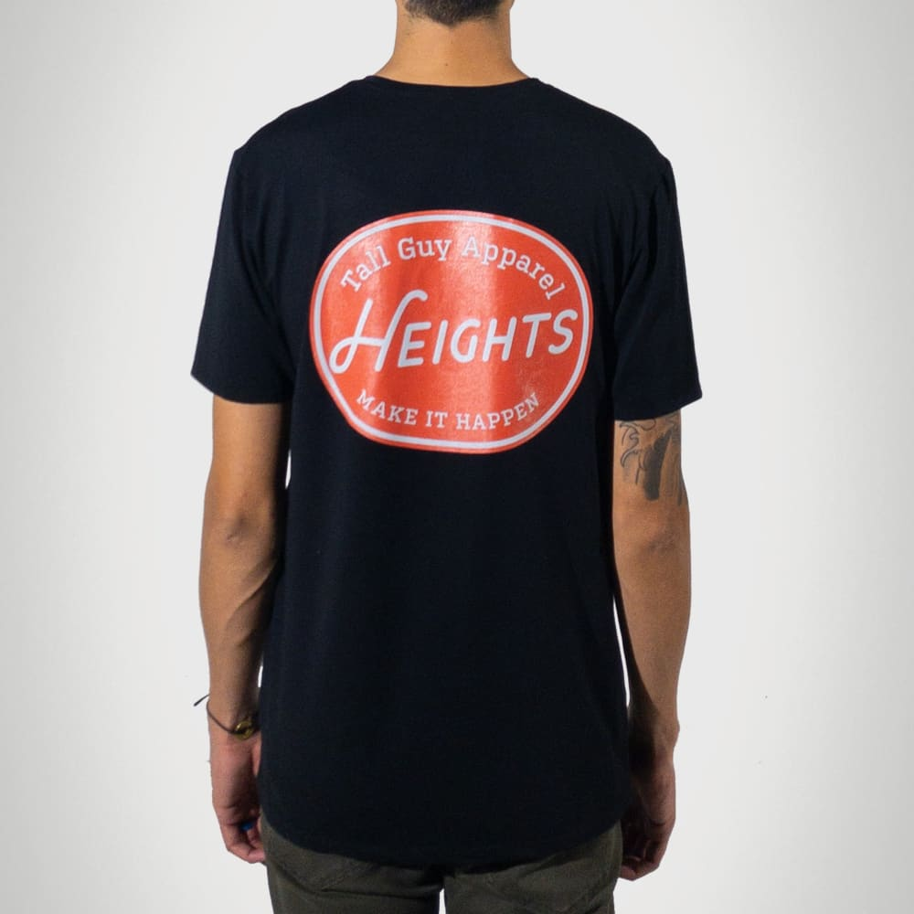Red Label Premium Graphic Tall T-Shirt - Black - heights-apparel-co
