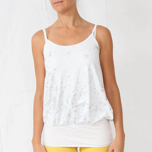 Béranger White Cami Yoga Tunic Top in 100% Organic Cotton