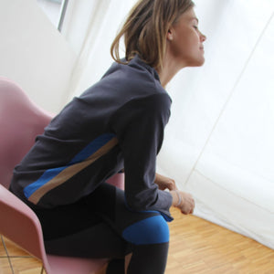 CASABLANCA Sports - Long Sleeve, Boatneck Yoga top / shirt