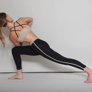 Chikoy Side Stripe Fitness and Yoga Legging in organic Zeugma® cotton