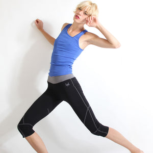 Seychelles Organic Yoga Capris Pants in moisture-wicking Zeugma® cotton in black