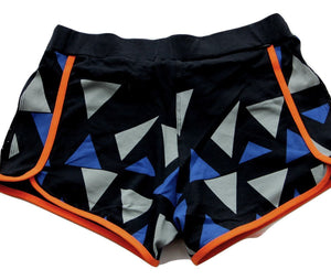 Tjapukai Printed Yoga Running Shorts in 100% organic cotton - back