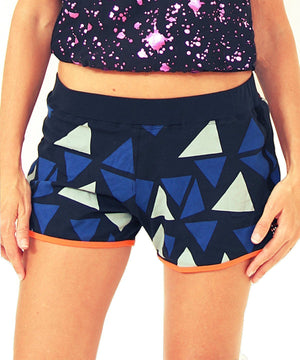 Tjapukai Printed Yoga Running Shorts in 100% organic cotton