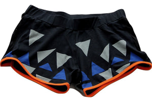 Tjapukai Printed Yoga Running Shorts in 100% organic cotton - front
