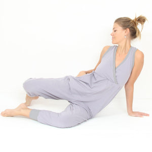 Prancing Leopard Toulouse II Euro-Style Super Jumpsuit in organic Zeugma® cotton - Silver grey