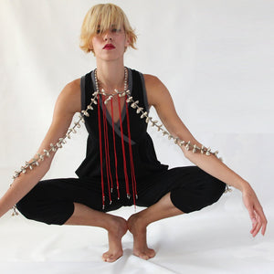 Prancing Leopard Toulouse II Euro-Style Super Jumpsuit in organic Zeugma® cotton - Black
