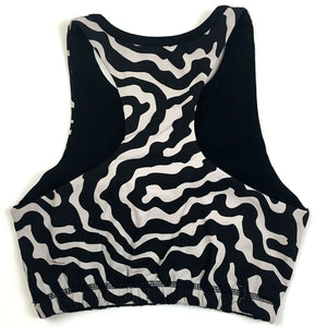 Wapiti Racer-Back Sports Bra - Animal Print - Organic Zeugma® Cotton