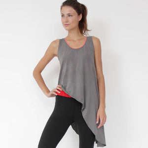 Arles Asymmetrical Yoga Sidetail Top in soft Zeugma® organic cotton