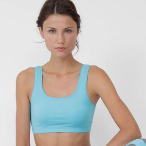 Figuera Organic Cotton Yoga Sports Bra Turquoise by Prancing Leopard