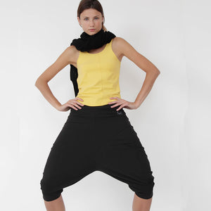 PRE-ORDER - BLACK - Pasha Harem Yoga Pants in Organic Cotton