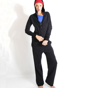 Prancing Leopard Istanbul Yoga Sweatpants Unisex in Organic Cotton - Black
