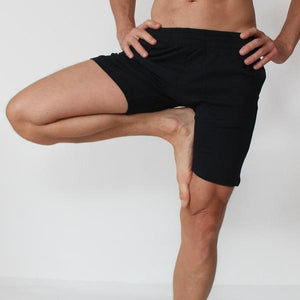 Okapi Unisex Organic Cotton Biker Shorts for Yoga and Fitness by Prancing Leopard