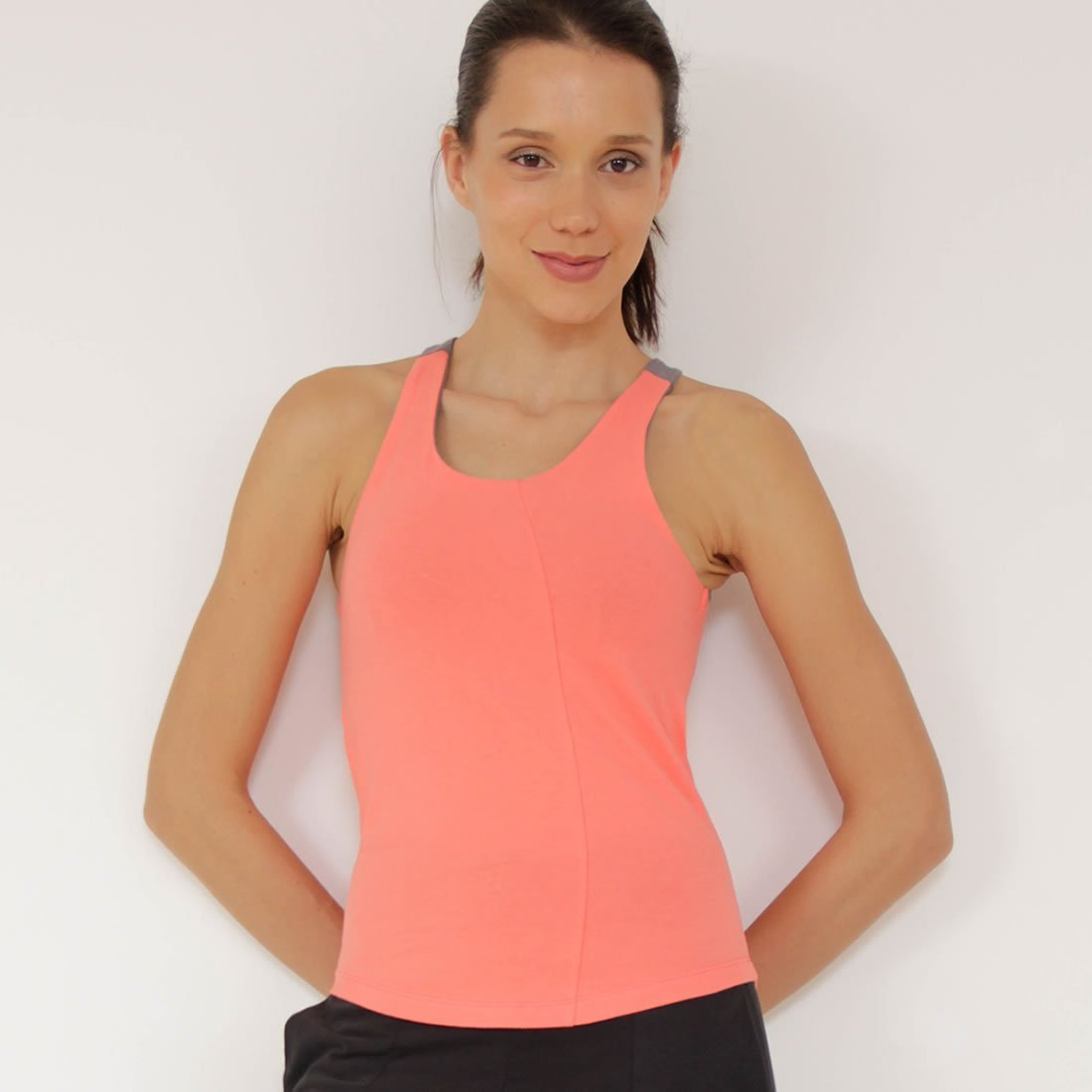 Colorful Yoga Top In Zeugma® Cotton