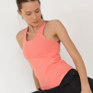 Plathe Cotton Yoga Top by Prancing Leopard