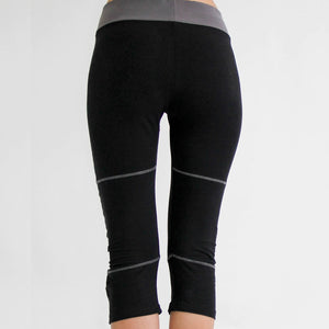 PRE-Order - Seychelles Organic Yoga Capris Pants in moisture-wicking Zeugma® cotton in black