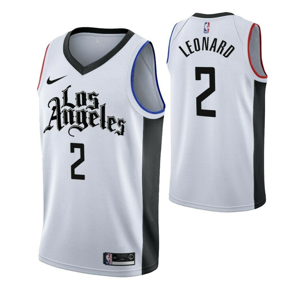 Kawhi Leonard Clippers White City Jersey