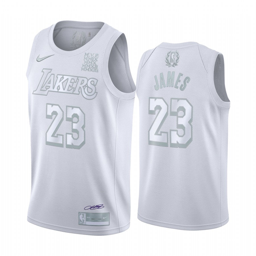 LeBron James Lakers All White Jersey