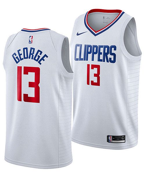 Paul George Clippers White Jersey