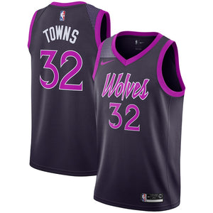 Karl-Anthony Towns Timberwolves Pink Jersey