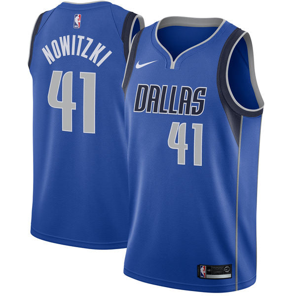 Dirk Nowitzki Mavericks Blue Jersey