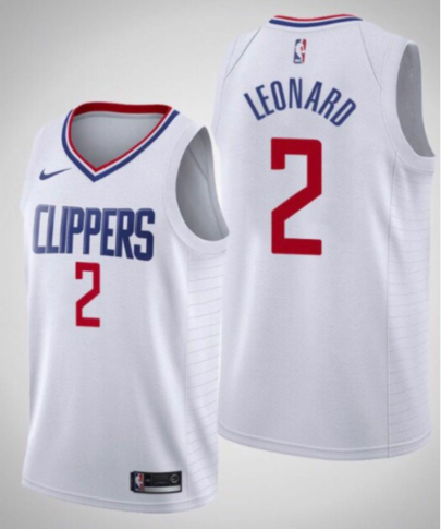Kawhi Leonard Clippers White Jersey