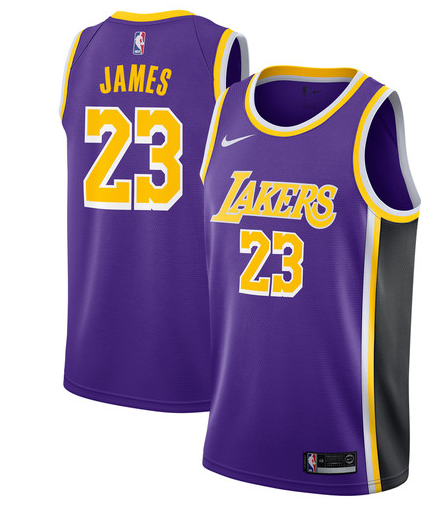 LeBron James Lakers Purple Jersey