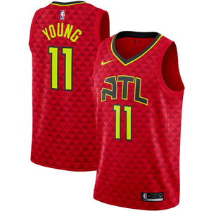 Trae Young Hawks Red Jersey