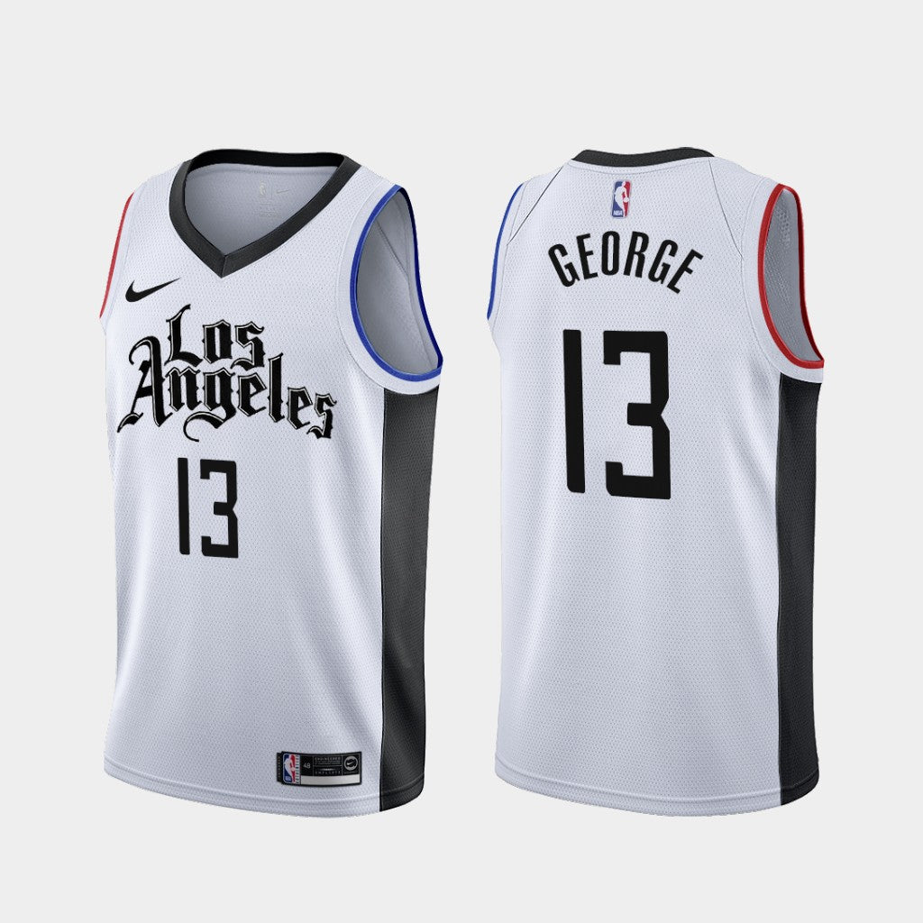 Paul George Clippers White City Jersey