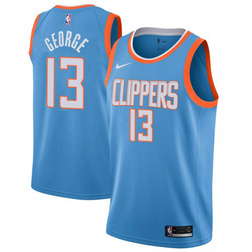 Paul George Clippers Light Blue Jersey