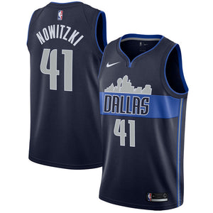 Dirk Nowitzki Mavericks Dark Blue Jersey