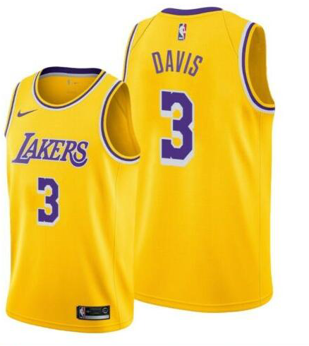 Anthony Davis Lakers Yellow Jersey
