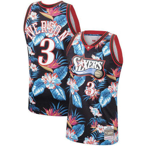 Allen Iverson Floral Sixers Jersey