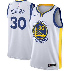 Steph Curry Warriors White Jersey