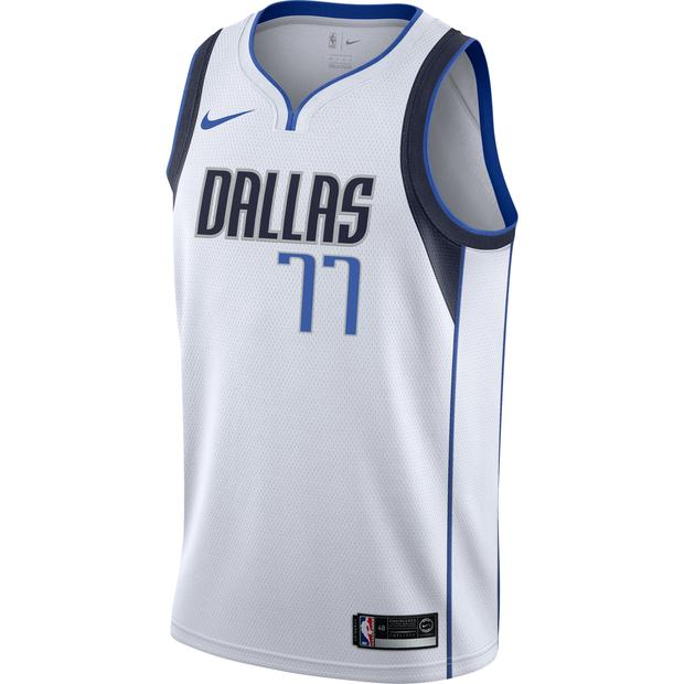 Luka Doncic Mavericks White Jersey