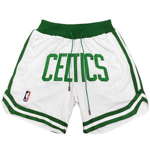 Celtics White Shorts