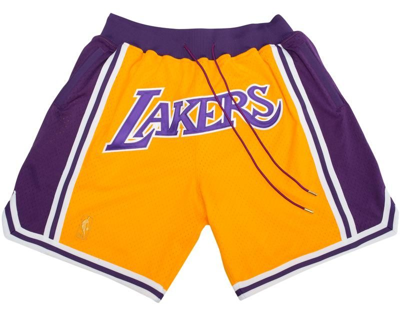 Lakers Gold Shorts