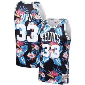 Larry Bird Floral Celtics Jersey