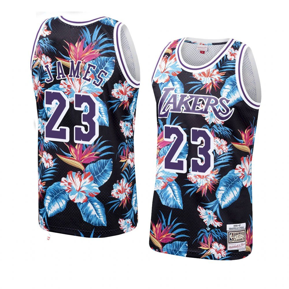 LeBron James Floral Lakers Jersey