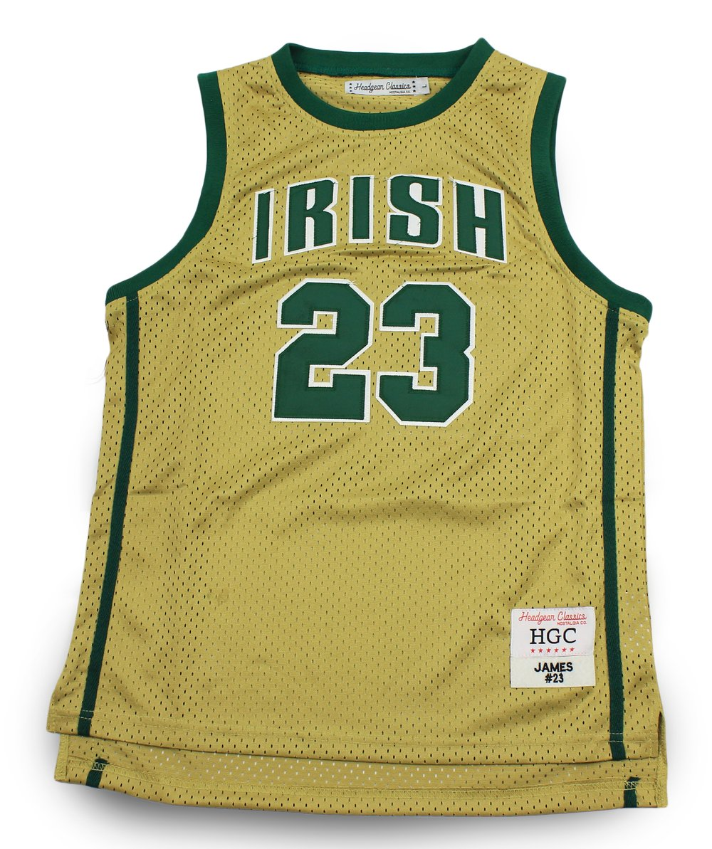 LeBron James St. Vincent-St. Mary High School Gold Jersey