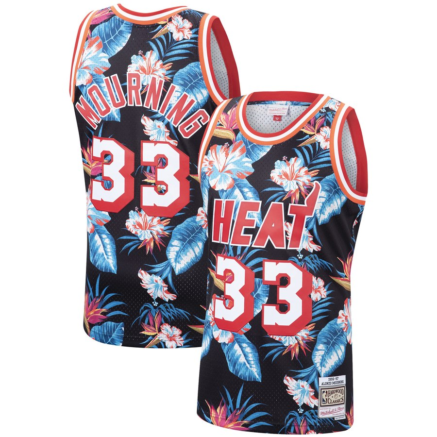 Alonzo Mourning Floral Heat Jersey