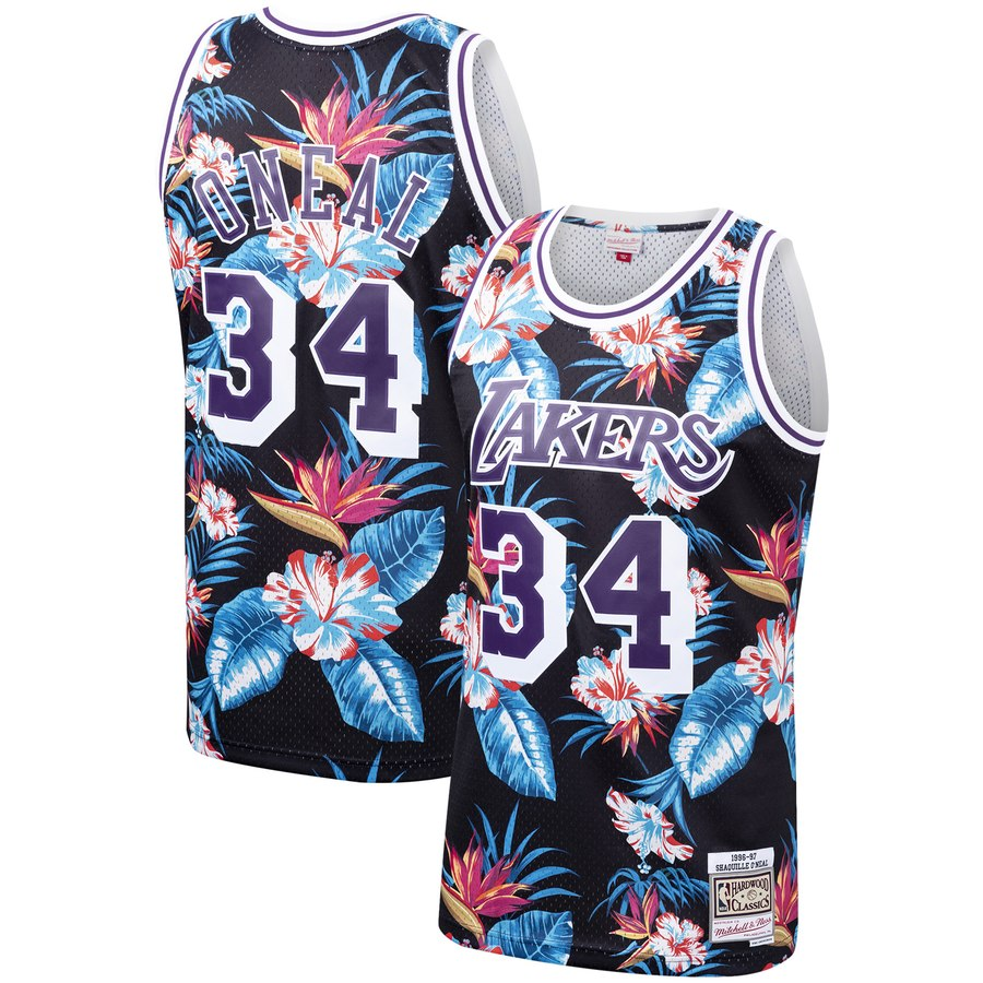 Shaquille O'Neal Floral Lakers Jersey